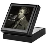 Edmund Burke: Good & Evil Keepsake Box