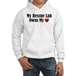 Heart Owning Rescue Lab Hooded Sweatshirt