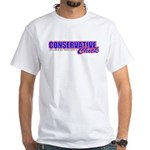 Conservative Chick White T-Shirt