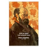 Cezanne Famous Paris Quote Large Poster