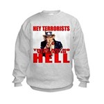 """No Virgins In Hell"" Kids Sweatshirt"