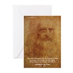 Wisdom Leonardo da Vinci Greeting Cards (Package o