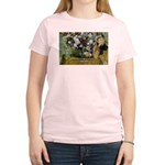 Degas Difficulty of Painting Women's Pink T-Shirt