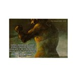 Goya Colossus Fantasy Quote Rectangle Magnet (100