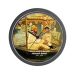 French Painter Manet Quote Wall Clock