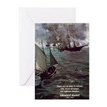 Manet Painting Color Quote Greeting Cards (Package