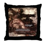 Michelangelo Perfection Quote Throw Pillow