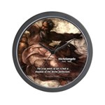 Michelangelo Perfection Quote Wall Clock