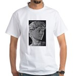David with Michelangelo Quote White T-Shirt