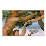 Sistine Chapel Adam & Eve Rectangle Sticker