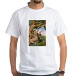 Sistine Chapel Adam & Eve White T-Shirt