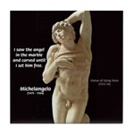 Michelangelo Angel in Sculpture Tile Coaster