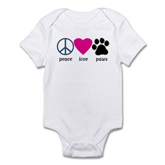 Peace Love Paws infant jumper