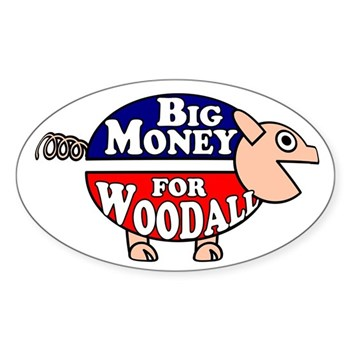 Big Money for Rob Woodall Corporate Pig Bumper Sticker