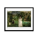 Berthe Morisot Art Quote Framed Panel Print