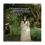 Berthe Morisot Art Quote Tile Coaster