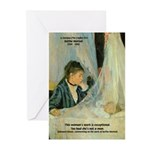 Female Artist Morisot Quote Greeting Cards (Packag