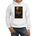 Renbrandt Self Portrait & Quote Hooded Sweatshirt