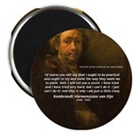 "Renbrandt Self Portrait & Quote 2.25"" Magnet (10 p"