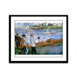 Renoir Painting: Art & Beauty Framed Panel Print