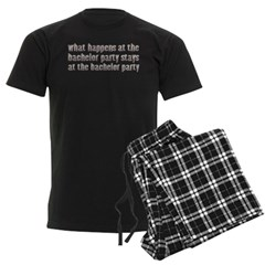 At the Bachelor Party Men's Dark Pajamas