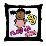 Ethnic Flowergirl Throw Pillow