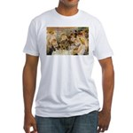 Renoir Quote and Landscape Fitted T-Shirt