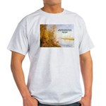 Alfred Sisley Nature Quote Ash Grey T-Shirt