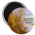 "Alfred Sisley Nature Quote 2.25"" Magnet (100 pack)"