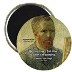 "Vincent Van Gogh Quote 2.25"" Magnet (10 pack)"