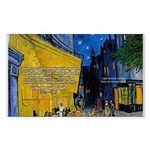 Vincent Van Gogh Color Art Rectangle Sticker