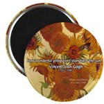 "Van Gogh Painting & Quote 2.25"" Magnet (10 pack)"