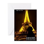 Art Architecture Eiffel Tower Greeting Cards (Pack