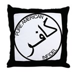 Pure Infidel (Black Logo) Throw Pillow