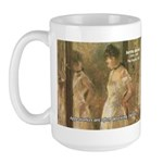 Aesop Quote Psyche Painting Large Mug