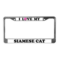 Siamese Cat License Plate Frames