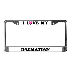 Dalmatian License Plate Frames