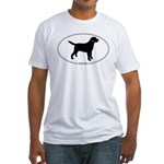 Black Lab Outline Fitted T-Shirt