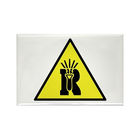 Dangerously Reactive Material Warning Sign. Be proud to be a geek or nerd,