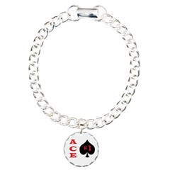 Ace of spades Charm Bracelet, One Charm 	> Chris'sstore