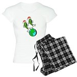 Christmas Peas on Earth Women's Light Pajamas