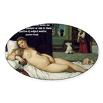 Freud Erotic Quote and Titian Oval Sticker
