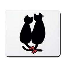 Romantic Cats Cartoon Mousepad