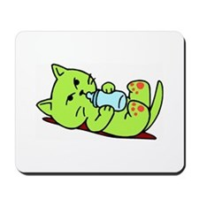 Cute Kitten Cartoon Mousepad