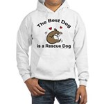 Best Rescue Dog Hooded Sweatshirt