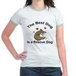 Best Rescue Dog Jr. Ringer T-Shirt