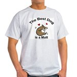 Best Mutt Dog Ash Grey T-Shirt