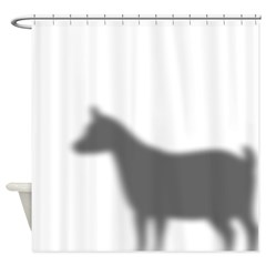 Pygmy Goat Shadow Shower Curtain