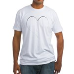 The Heart Zone Fitted T-Shirt