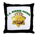 Border Patrol Badge Throw Pillow